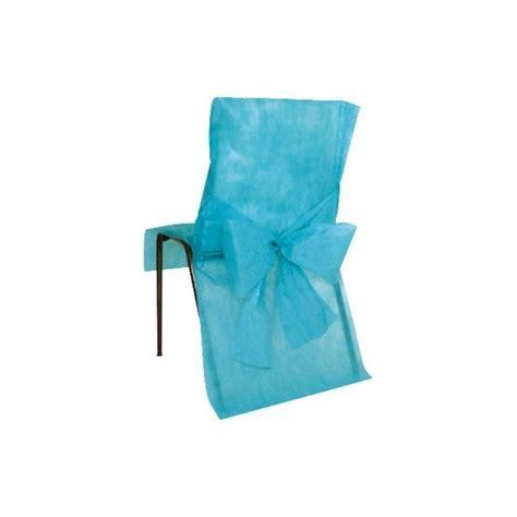 housse de chaise intisse housses de chaise intiss 233 turquoise avec noeud d 233 corations de salle