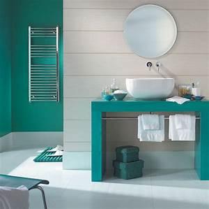 tendance une salle de bain en turquoise cozy place and With carrelage salle de bain turquoise