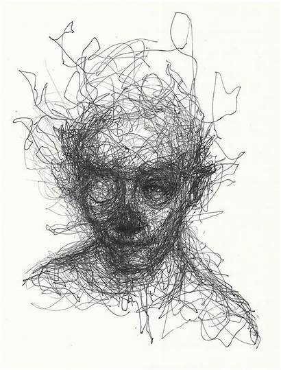 Riches Adam Portraits Drawings Abstract Types Scribble