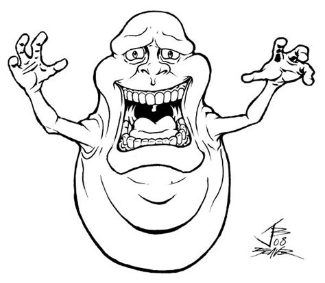 Kleurplaat Elia by Ghostbusters Coloring Pages To Print Scary Slimer
