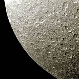 Rhea, moon of Saturn - The Solar System on Sea and Sky