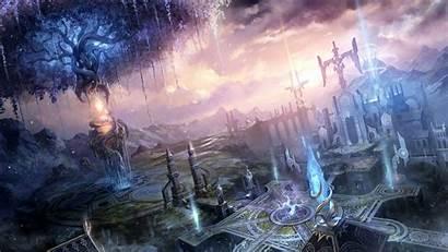 Fantasy Landscapes Magic Cities Landscape Anime Castle