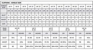 Saudagar Uk Online  Women U0026 39 S Sizing Chart