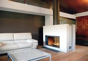 Cheminée Double Face : foyers st v le feu essentiel dans une chemin e ouverte et ferm e ~ Preciouscoupons.com Idées de Décoration
