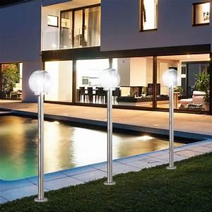 Garten Stehleuchten Aussen : 6 w led aussen garten steh stand kugel edelstahl balkon ~ Lateststills.com Haus und Dekorationen