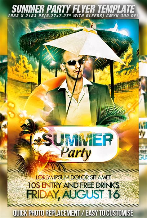 summer flyer templates free 30 free psd party flyer templates download