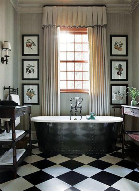 lino sol cuisine le carrelage damier noir et blanc en 78 photos archzine fr