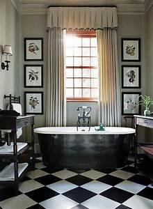 Salle De Bain Carrelage Noir : le carrelage damier noir et blanc en 78 photos ~ Dailycaller-alerts.com Idées de Décoration
