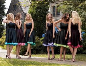 chagne color bridesmaid dress bridesmaids gowns black and colors