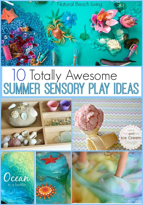 10 Totally Awesome Summer Sensory Play Ideas  Natural Beach Living