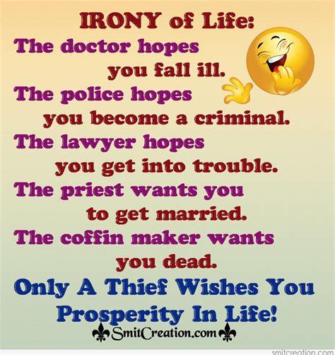 irony  life smitcreationcom