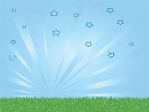 Bright Sky and Grass Powerpoint Templates - Nature - Free ...