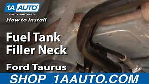 How To Install Replace Fuel Tank Filler Neck Ford Taurus