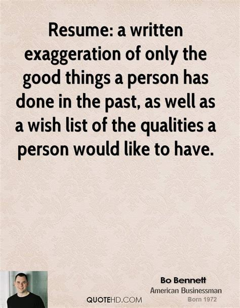 Qualities Of A Person To Put On Resume by Bo Quotes Quotehd