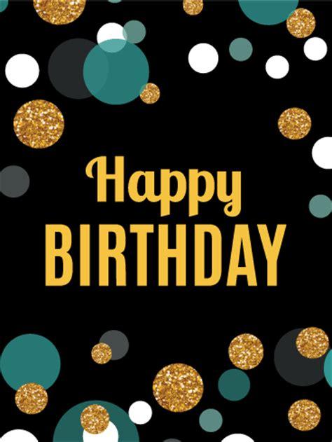 colorful dots happy birthday card birthday greeting