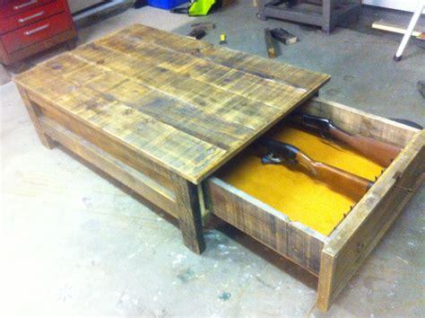 Coffee Table Gun Cabinet  Stuff To Make Pinterest