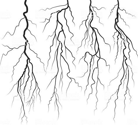 lightning stock vector art  images  black