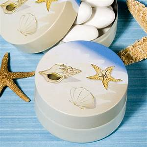 Beach themed mint tin favors sang maestro for Beach themed wedding favors