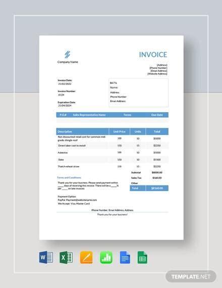 estimate invoice sample  examples  word
