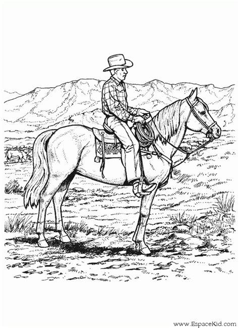 coloriage cheval monte  imprimer dans les coloriages