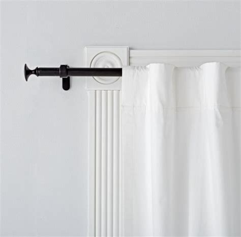 25 best ideas about black curtain rods on