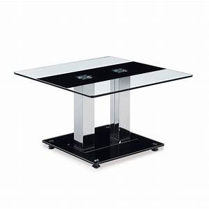 global t2108 2 piece rectangular glass coffee table set w With glass coffee table with silver legs