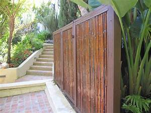 Affordable privacy fences-bamboo pole fence cane add