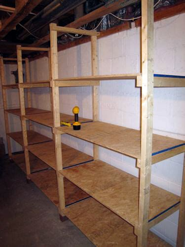 etagere chambre froide how to build inexpensive basement storage shelves one