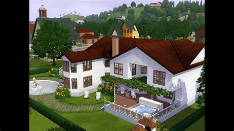 Sims 3  Haus Bauen  Let's Build  Haus Im Landhausstil