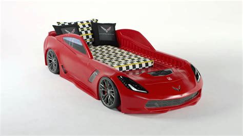 Corvette Car Bed - all new step2 corvette 174 z06 toddler to bed