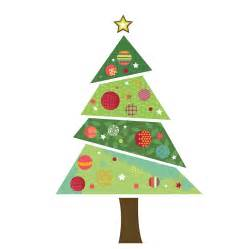 fabric christmas tree wall sticker by spin collective notonthehighstreet com