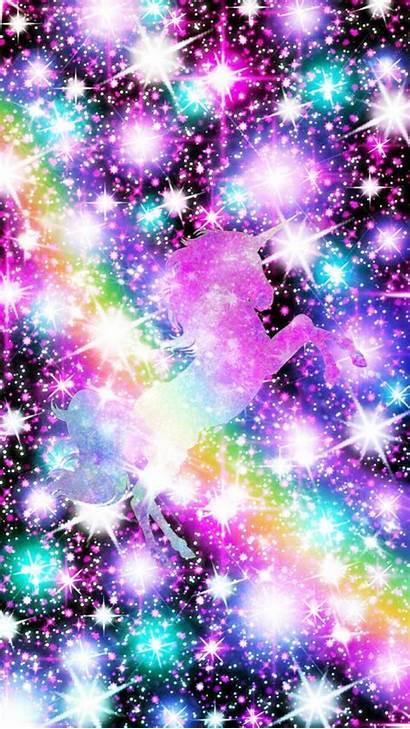 Unicorn Rainbow Glitter Galaxy Wallpapers Unicorns Girly