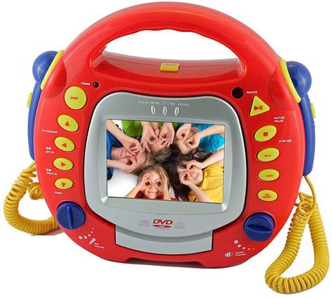 tragbarer dvd player kinder tragbarer karaoke dvd mp3 divx cd svcd player mit 5 lcd