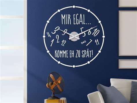 Wandtattoo Uhr Kinderzimmer by Wandtattoo Uhr Mir Egal Klebeheld 174 De
