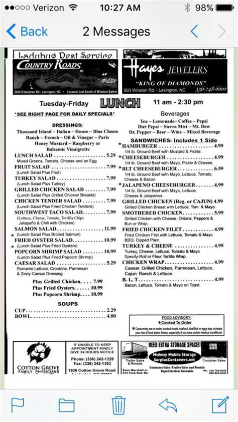 yarboroughs restaurant menus home lexington north