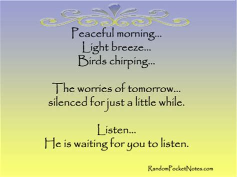be still and listen quotes