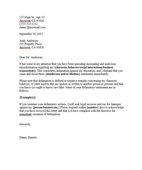 Cease And Desist Template 30 Cease And Desist Letter Templates Free Template Lab