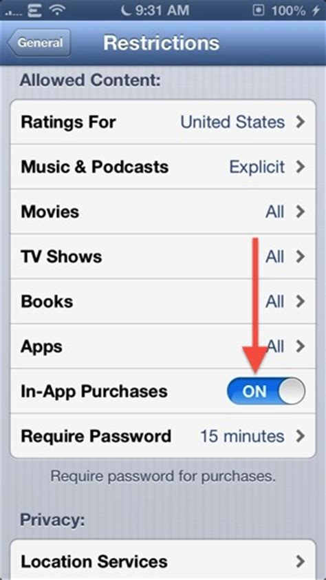 how to disable an iphone how to disable in app purchases on iphone ipod touch