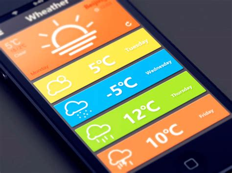 Weather Home Design by 50 Weather App Ui Design For Your Inspiration Hongkiat