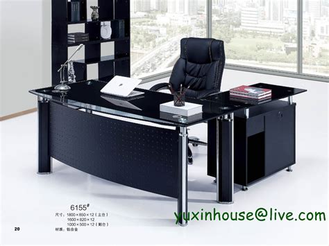 glass executive desk office furniture tempered glass office desk boss desk table commercial