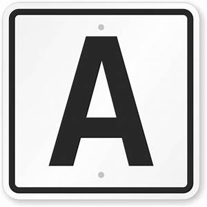 12quot tall letters numbers for Letter a sign