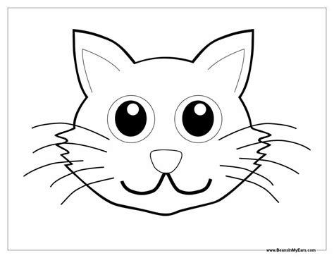 Cat Mask Template Printable
