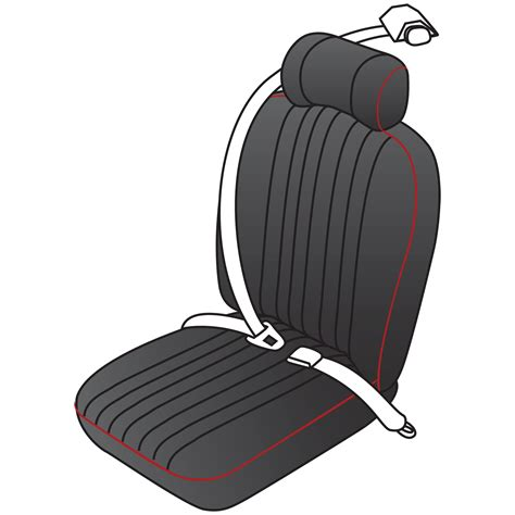 vintage style retractable seat belt kit moss motors