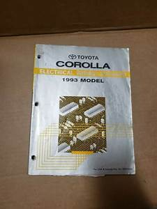 1993 Toyota Corolla Shop Service Electrical Wiring Diagram