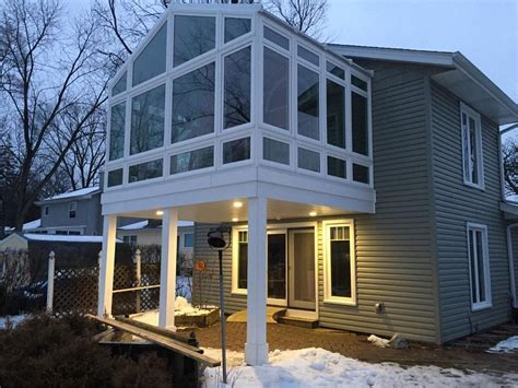 Elevated Sunroom Addition by Sunroom Additions Cost Custom Designed Sunrooms Paragon