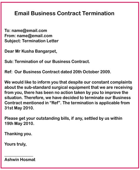 business contract termination letter samples   wiki