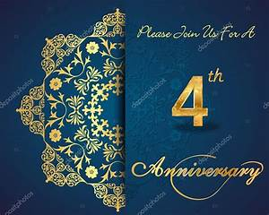 4 year anniversary celebration pattern design, 4th ...
