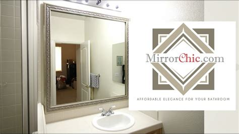 Install Bathroom Mirror by Mirrorchic The Bathroom Mirror Framing System That S