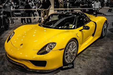 porsche spyder yellow yellow porsche 918 spyder with weissach package youtube
