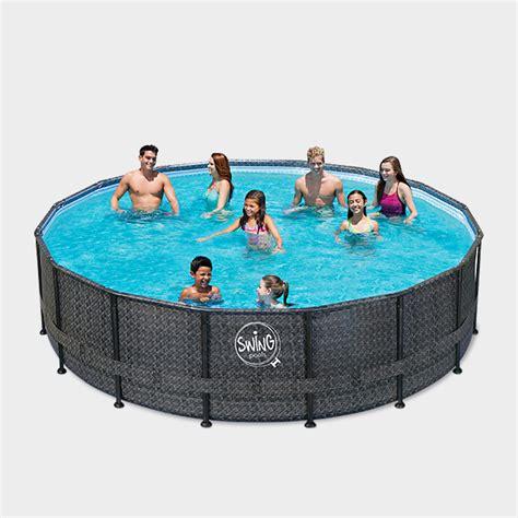 Pool Set by Frame Pool Prime Rund Wicker 549 X 132 Cm Frame